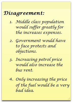 Increasing petrol price