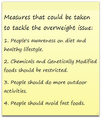 People should avoid fast foods